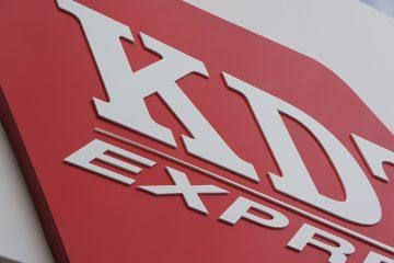 Aluminium paneel met acrylaat letters